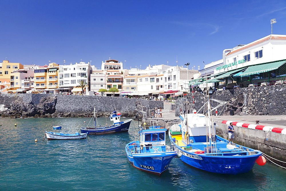 Fishing boats at the port, Los Abrigos, Tenerife, Canary Islands, Spain, Europe