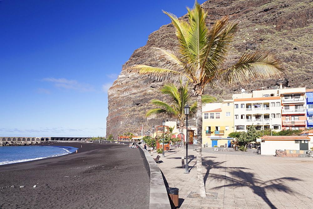 Beach of Puerto de Tazacorte, La Palma, Canary Islands, Spain, Atlantic, Europe