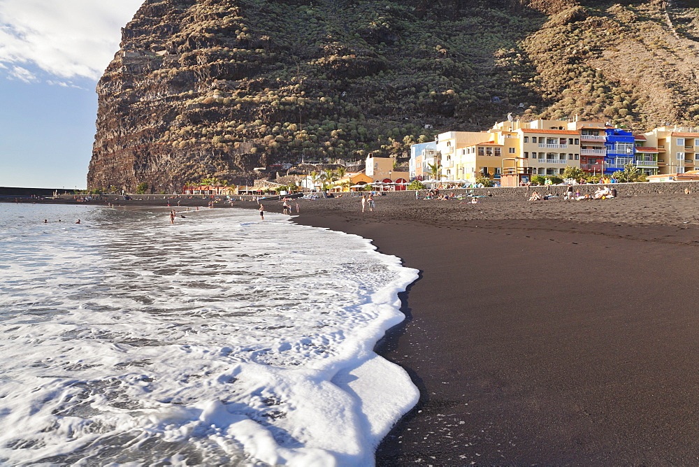 Playa del Puerto Beach of Puerto de Tazacorte, La Palma, Canary Islands, Spain, Atlantic, Europe