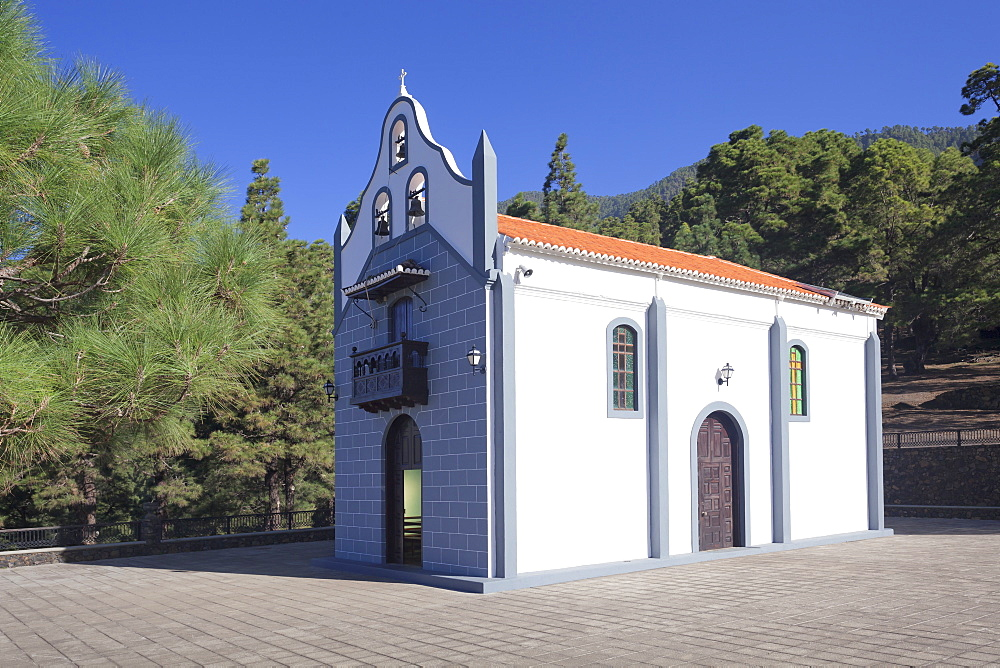 Ermita Virgen del Pino chapel, Canary Pine, near El Paso, La Palma, Canary Islands, Spain, Europe