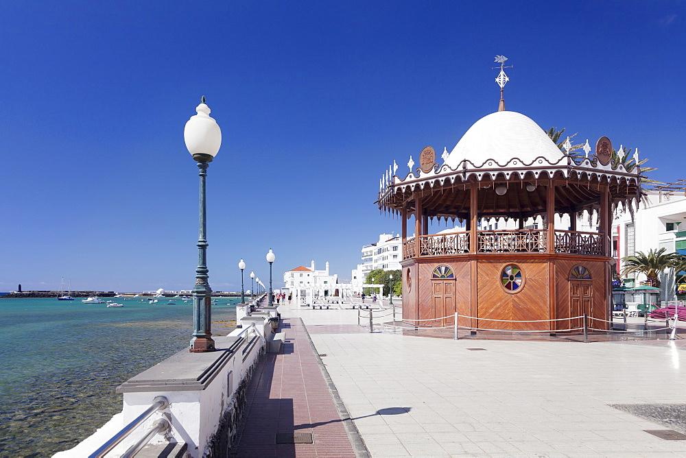 Pavilion on the promenade La Marina, Arrecife, Lanzarote, Canary Islands, Spain, Atlantic, Europe