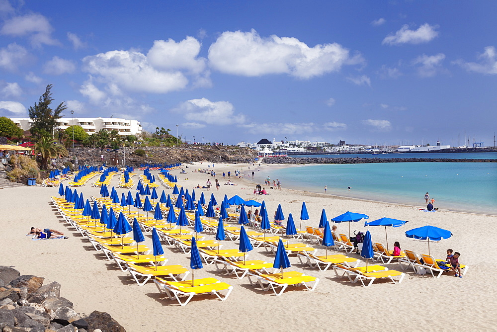 Playa Dorada beach, Playa Blanca, Lanzarote, Canary Islands, Spain, Atlantic, Europe