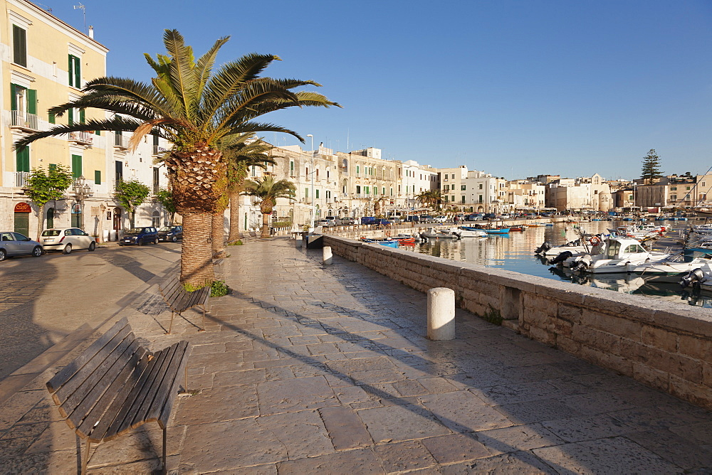 Promenade at the harbour, old town, Trani, Le Murge, Barletta-Andria-Trani district, Puglia, Italy, Europe