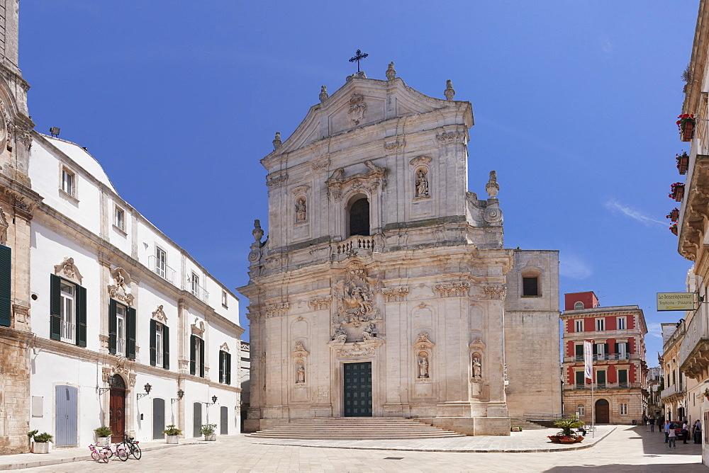 Piazza Plebiscito, Basilica di San Martino, Martina Franca, Valle d'Itria, Taranto district, Puglia, Italy, Europe