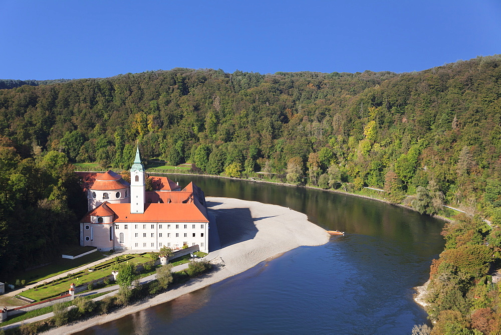 Weltenburg Monastery, Danube River, near Kelheim, Bavaria, Germany