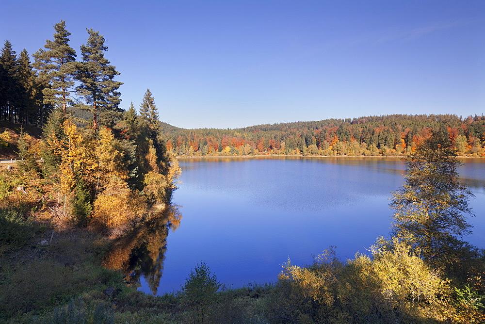 Schwarzenbach reservoir, Schwarzenbachtalsperre, nearForbach, Black Forest, Baden Wuerttemberg, Germany