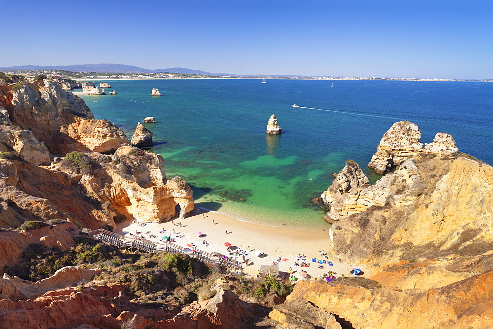 Praia do Camilio beach, Atlantic ocean, near Lagos, Algarve, Portugal