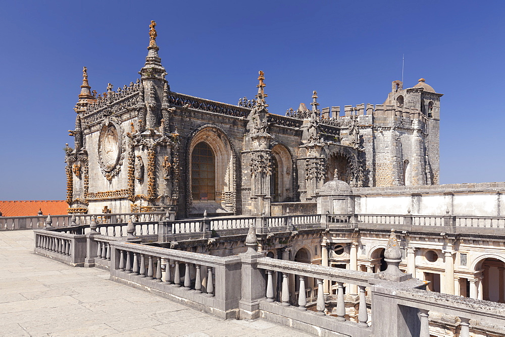 Convento de Cristi (Convent of Christ) Monastery, UNESCO World Heritage Site, Tomar, Santarem District, Portugal, Europe
