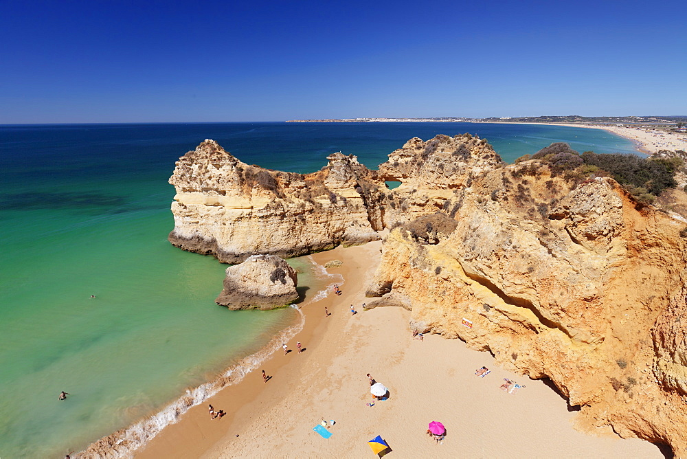 Praia de tres Irmaos beach, Atlantic Ocean, Alvor, Algarve, Portugal, Europe