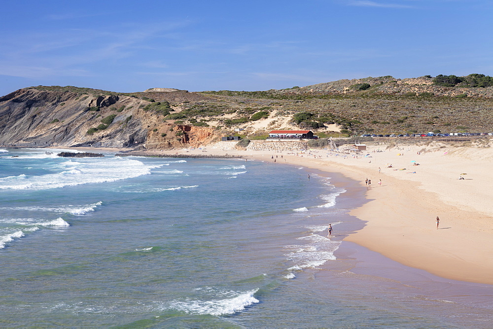 Praia da Amoreira Beach, Atlantic Ocean, Aljezur, Costa Vicentina, Algarve, Portugal, Europe