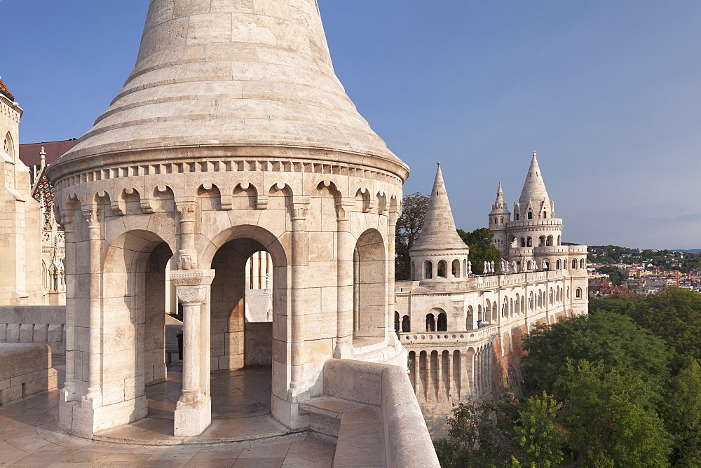 Fisherman's Bastion, Buda Castle Hill, Budapest, Hungary, Europe