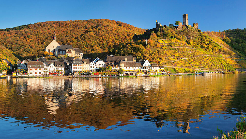 Town of Beilstein with Metternich Castle Ruins on Moselle River, Rhineland-Palatinate, Germany - 1160-3779