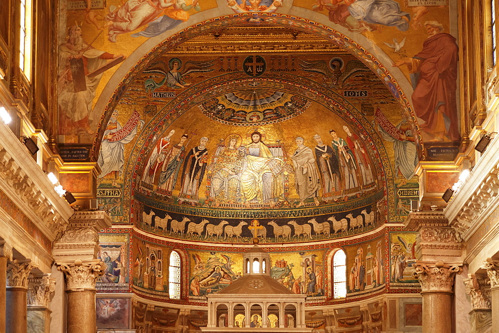 Santa Maria in Trastevere Church, Trastevere, Rome, Lazio, Italy, Europe - 1160-3858