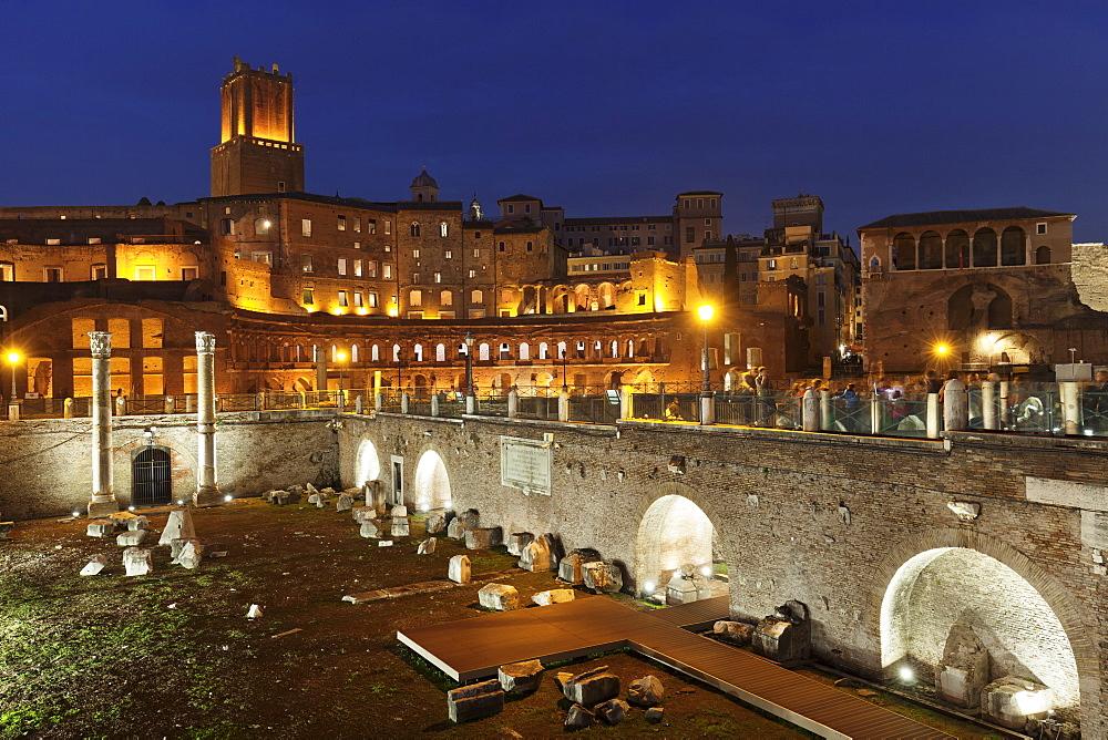 Trajan's Markets, Torre delle Milizie Turm, Trajan's Forum (Foro di Trajano), UNESCO World Heritage Site, Rome, Italy