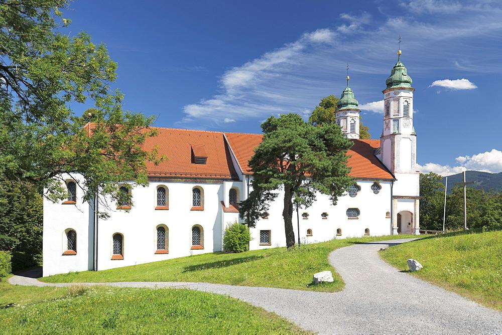 Heilig-Kreuz-Kirche church,Kalvarienberg, Calvary hill, Bad Toelz, Upper Bavaria, Bavaria, Germany - 1160-3933