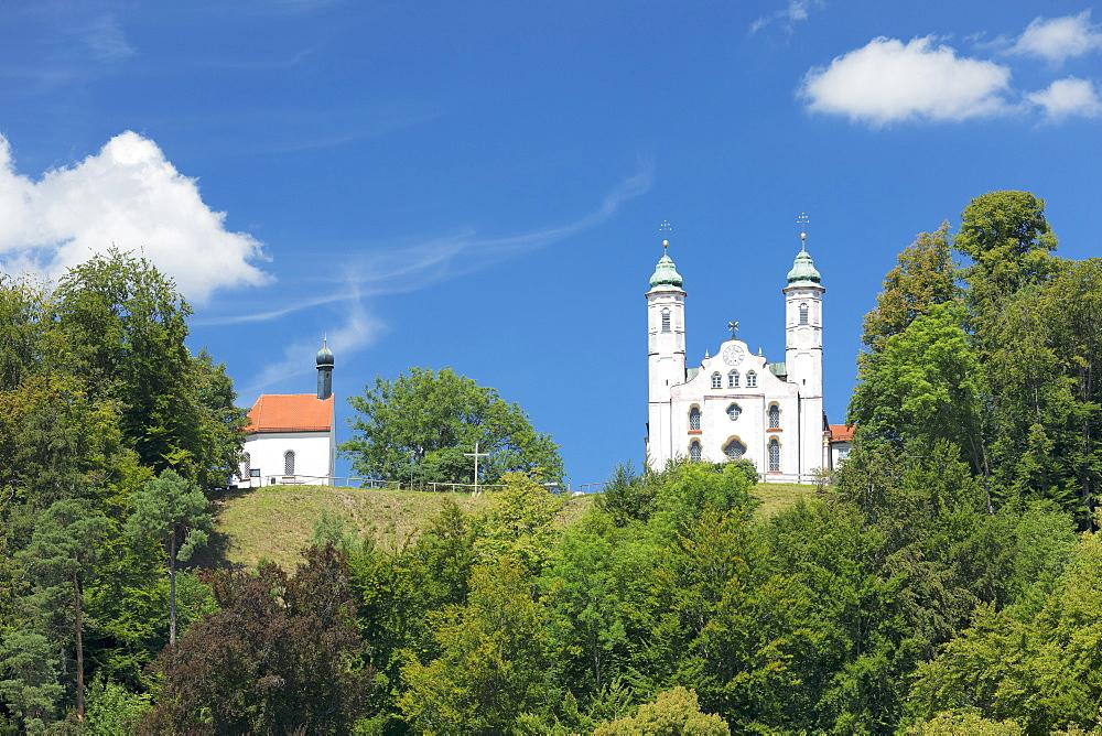 Heilig-Kreuz-Kirche church,Kalvarienberg, Calvary hill, Bad Toelz, Upper Bavaria, Bavaria, Germany - 1160-3935