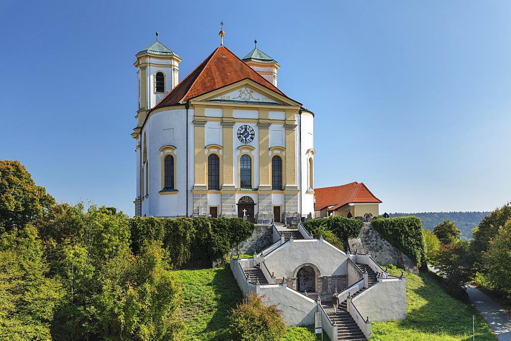 Pilgrimage church Marienberg, Upper Bavaria, Bavaria, Germany - 1160-3982