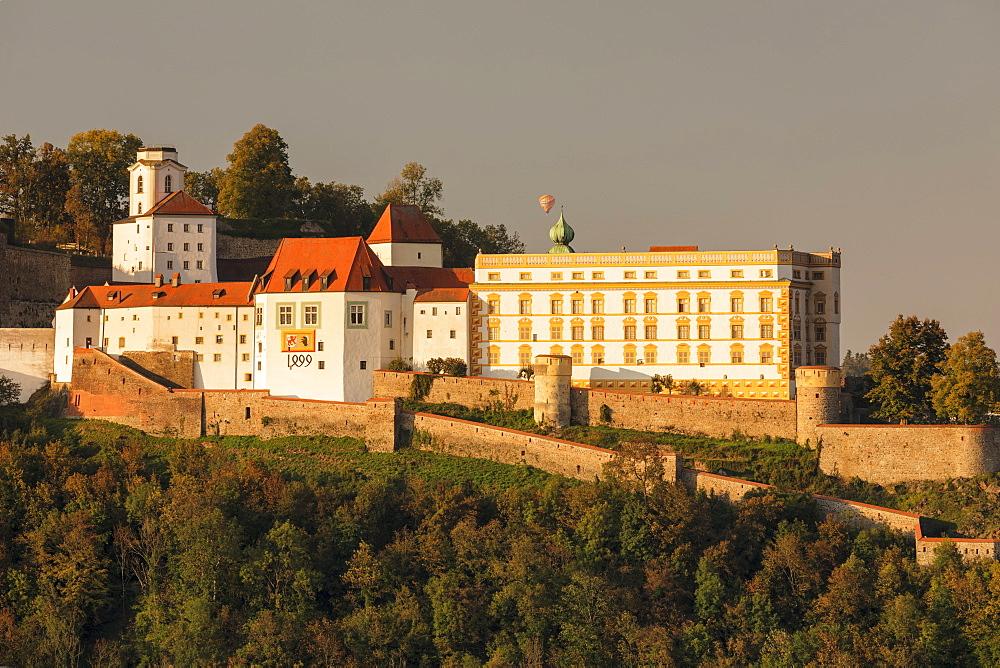 Veste Oberhaus fortress at sunset, Passau, Lower Bavaria, German - 1160-3995