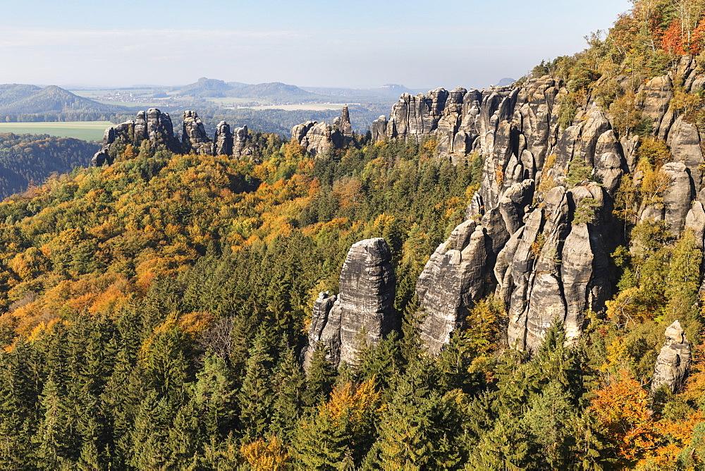 Schrammsteine Rocks, Elbsandstein Mountains, Saxony Switzerland National Park, Saxony, Germany - 1160-4026
