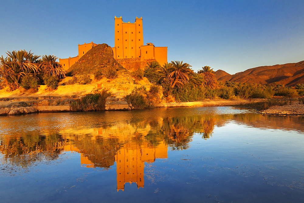 Ait Hamou ou Said Kasbah, Draa River, Draa Valley, Morocco, North Africa, Africa - 1160-4073