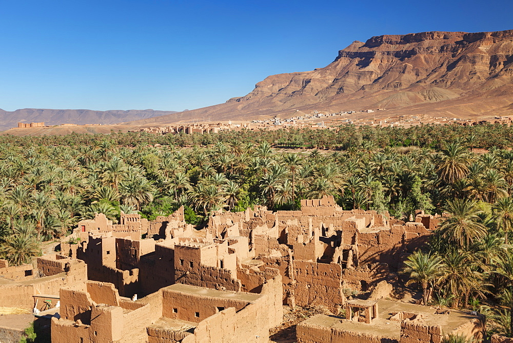 Kasbah Timiderte, Draa Valley, Djebel Kissane Mountain, Morocco, North Africa, Africa