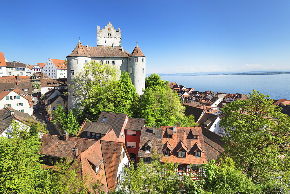 Old Castle, Meersburg, Lake Constance, Baden-Wuerttemberg, Germany