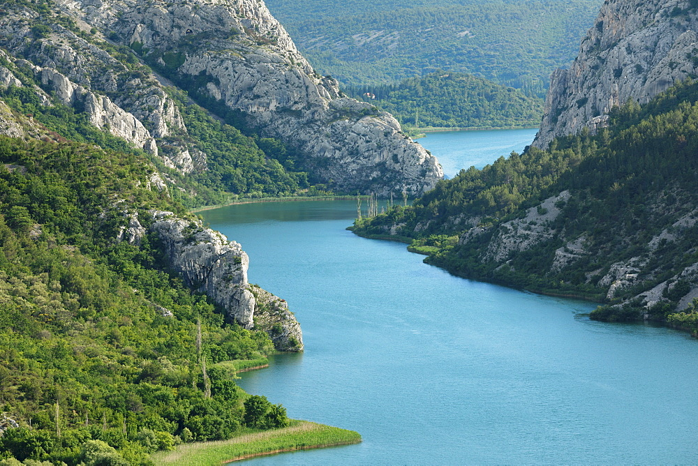 Medu Gredama Valley, Krka River, Krka National Park, Dalmatia, Croatia, Europe
