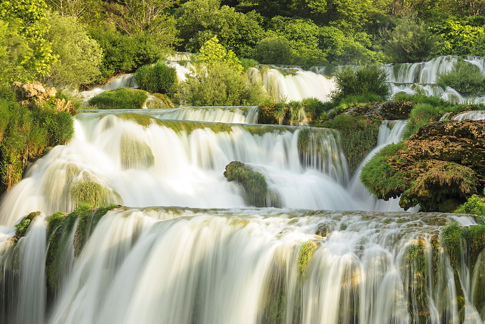 Skradinski Buk Waterfalls, Krka National Park, Dalmatia, Croatia, Europe