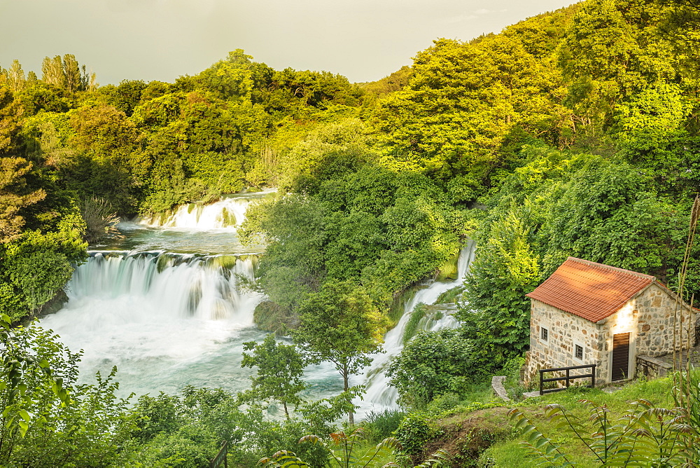 Skradinski Buk Waterfalls, Krka National Park, Dalmatia, Croatia, Europe - 1160-4145
