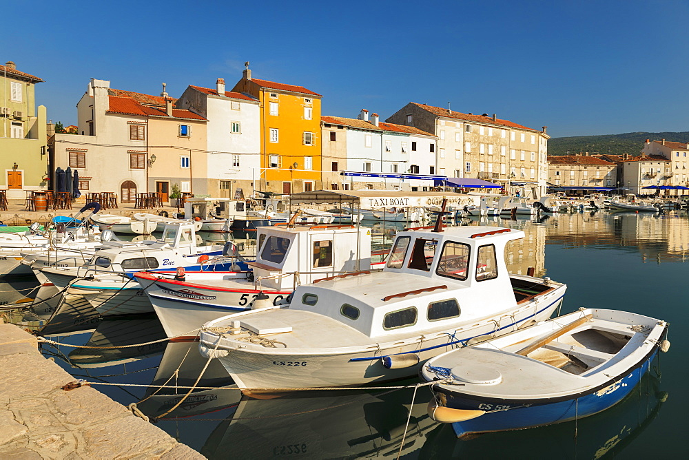 Fishing boats at the harbour, Cres Town, Cres Island, Kvarner Gulf, Croatia, Europe