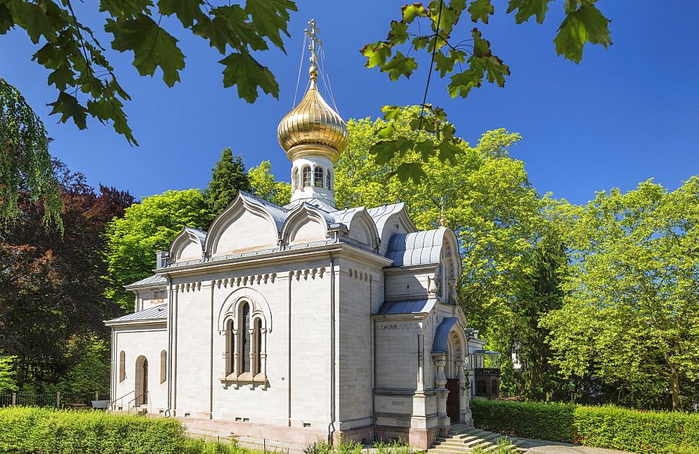 Russian church, Baden-Baden, Black Forest, Baden-Wuerttemberg, Germany - 1160-4255