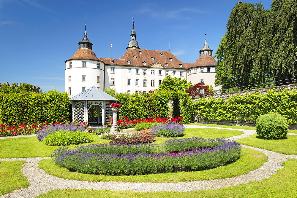 Schloss Langenburg Castle, Langenburg, Hohenlohe, Baden-Wuerttemberg, Germany - 1160-4261