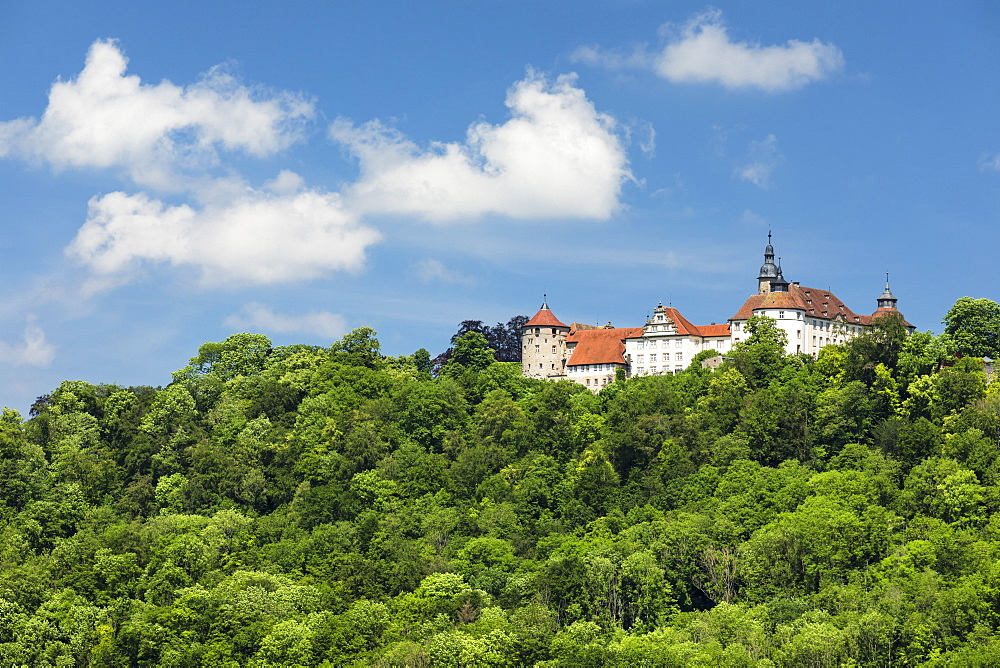 Schloss Langenburg Castle, Langenburg, Hohenlohe, Baden-Wuerttemberg, Germany - 1160-4262