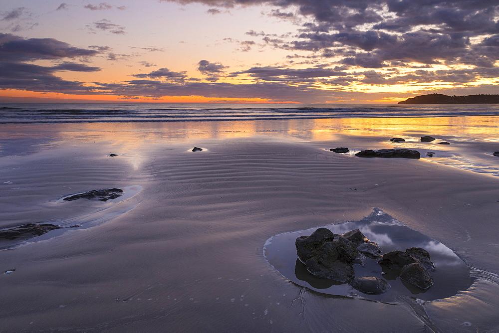 Moeraki Beach at sunrise, Otago, South Island, New Zealand, Pacific