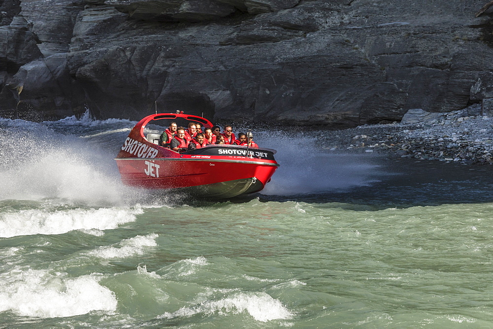 Shotover Jetboat, Shotover River, Queenstown, Otago, South Island, New Zealand, Pacific - 1160-4367