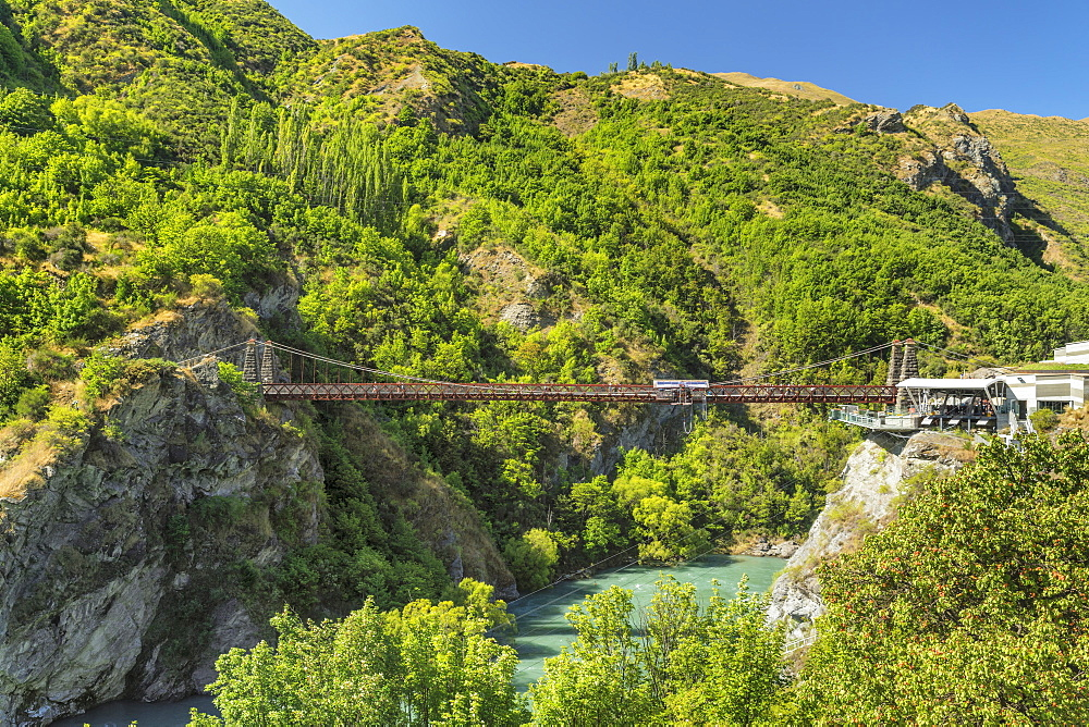 Kawarau Bridge, Kawarau River Gorge, Queenstown, Otago, South Island, New Zealand, Pacific - 1160-4368