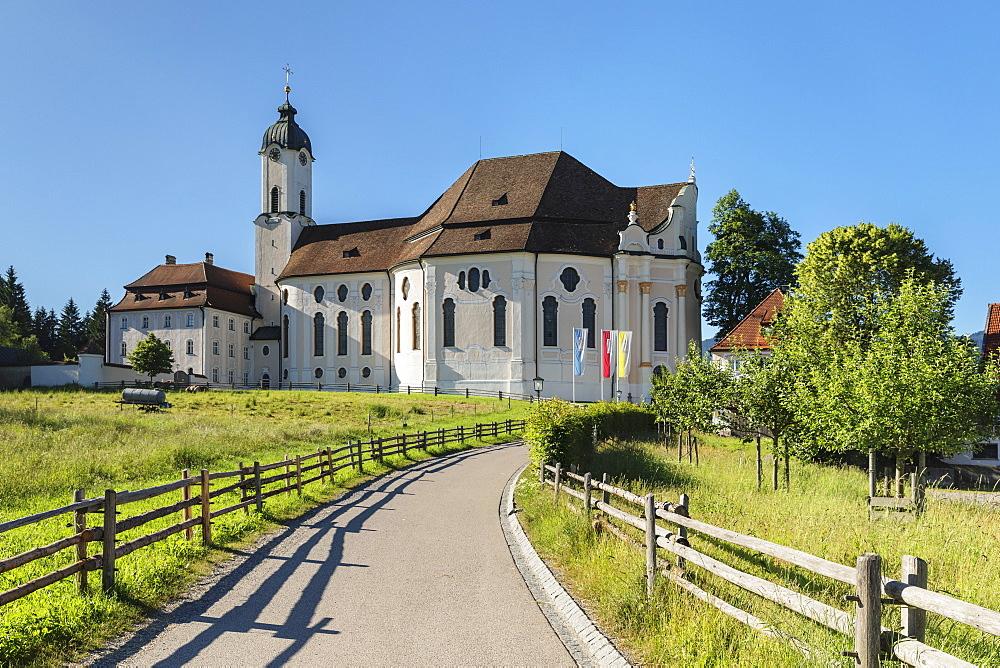 Pilgrimage Church Wieskirche, Steingaden, Romantic Road, Pfaffenwinkel, Upper Bavaria, Germany, Europe