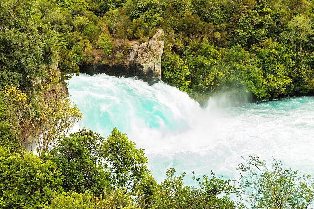 Huka Falls Waterfall, Waikato River, Taupo District, North Island, New Zealand, Pacific - 1160-4505