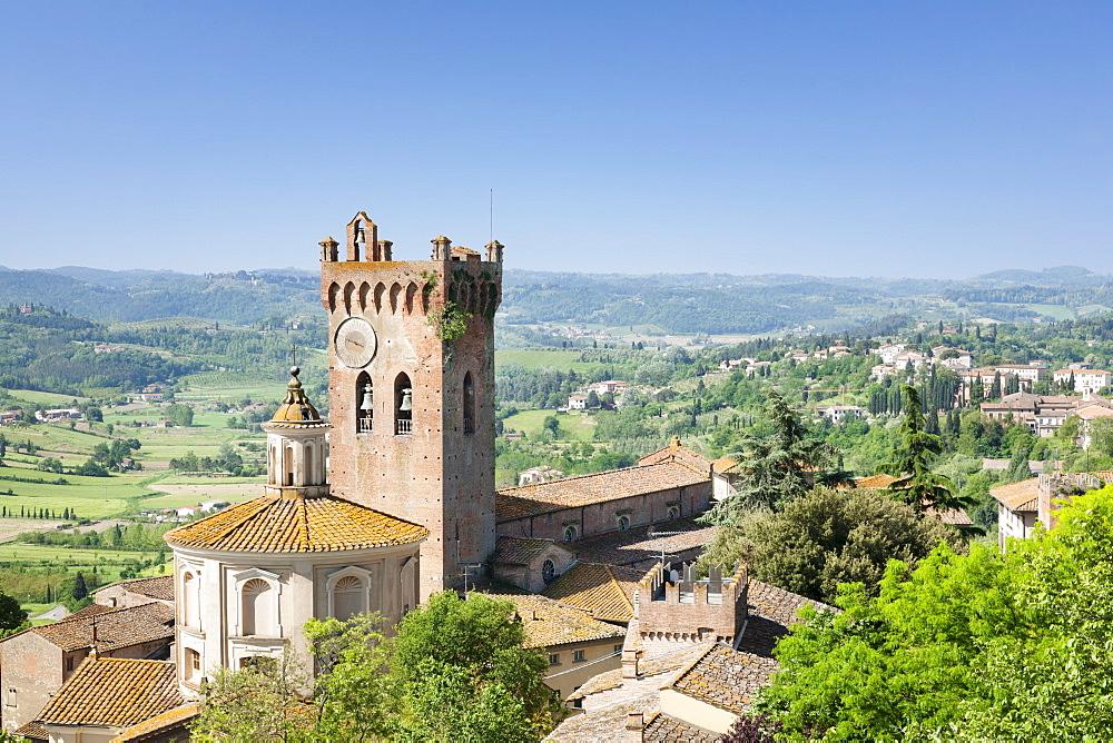 Duomo and Campanile, San Miniato, Pisa Region, Tuscany, Italy, Europe