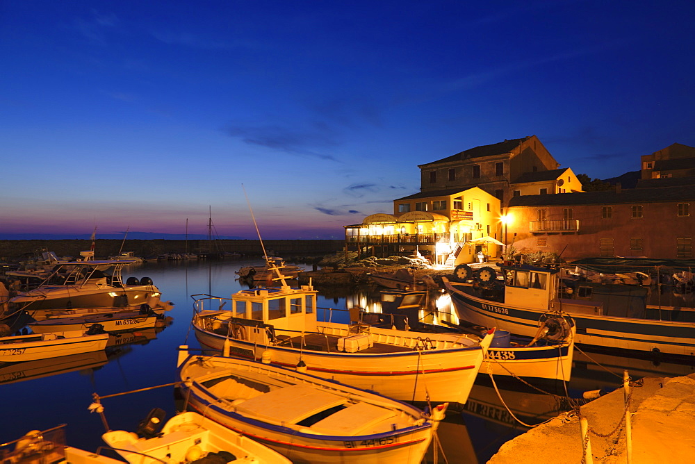 Fishing boats at a port, Centuri Port, Corsica, France, Mediterranean, Europe