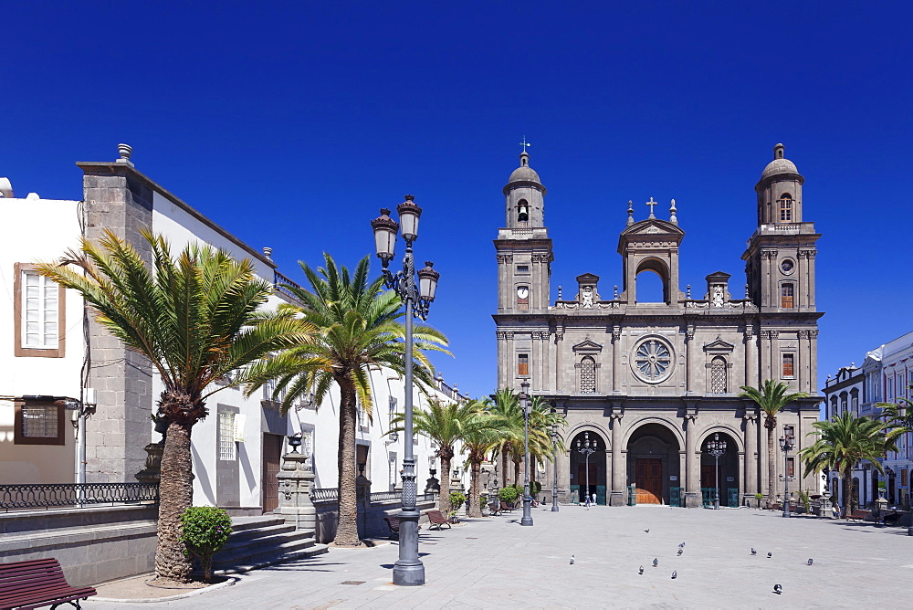 Santa Ana Cathedral, Plaza Santa Ana, Vegueta Old Town, UNESCO World Heritage Sie, Las Palmas, Gran Canaria, Canary Islands, Spain, Europe