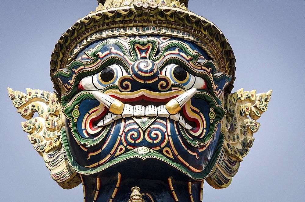 Mythical temple guard (Yaksha), Wat Phra Kaew, Bangkok, Thailand. - 1163-26