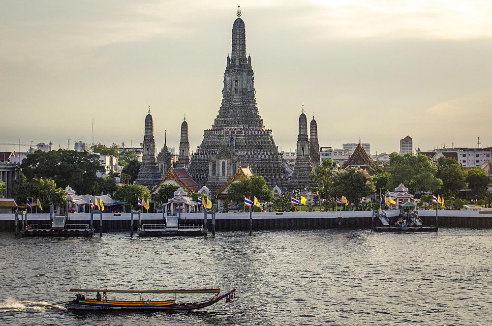 Wat Arun and Chao Phraya River, Bangkok, Thailand. - 1163-31