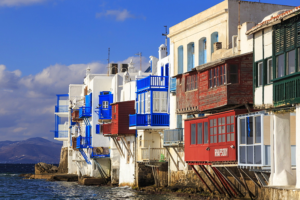Little Venice, Mykonos Town (Chora), Mykonos, Cyclades, Greek Islands, Greece, Europe