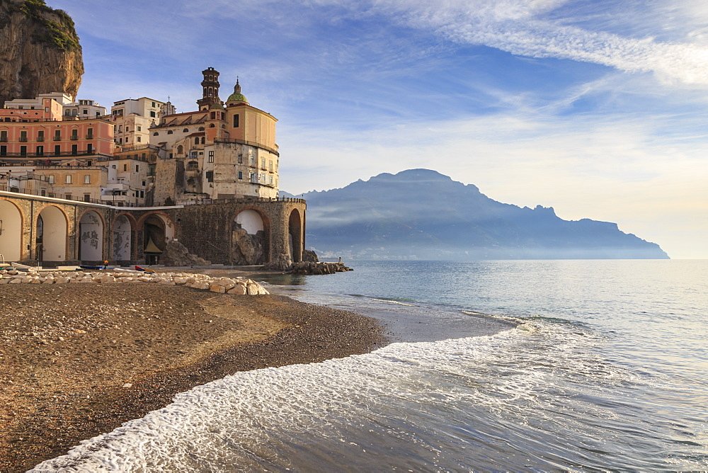 Stock photo of Atrani at sunrise, Amalfi Coast
