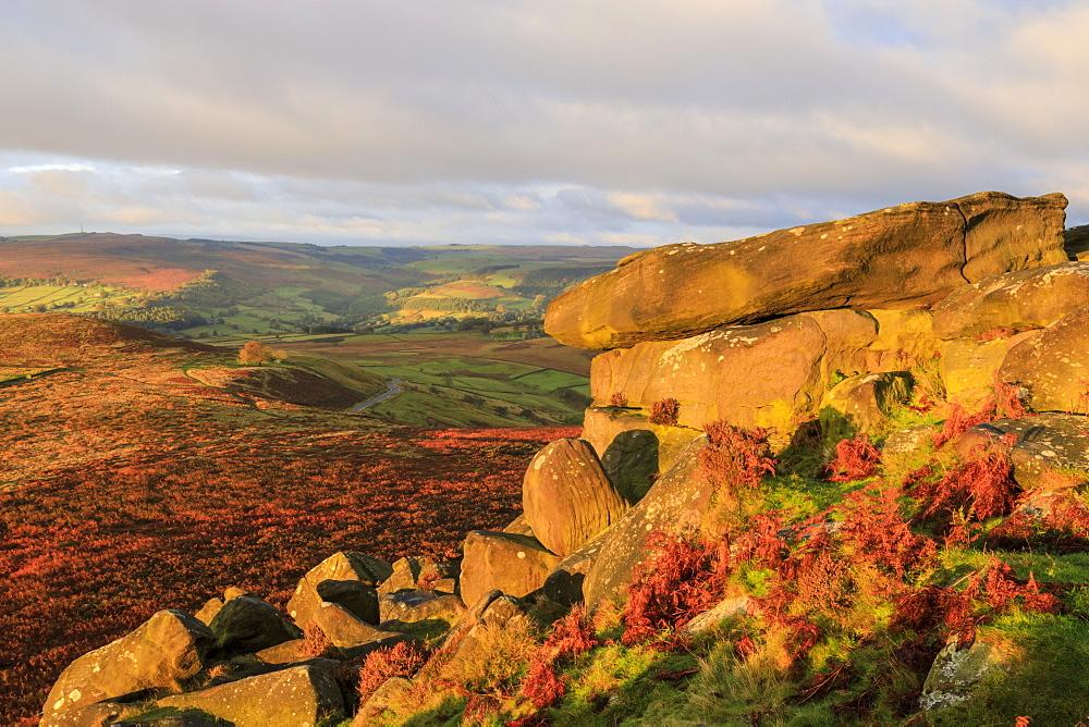 Higger Tor and Hathersage Moor, sunrise, Peak District National Park, Autumn, Derbyshire, England - 1167-1583