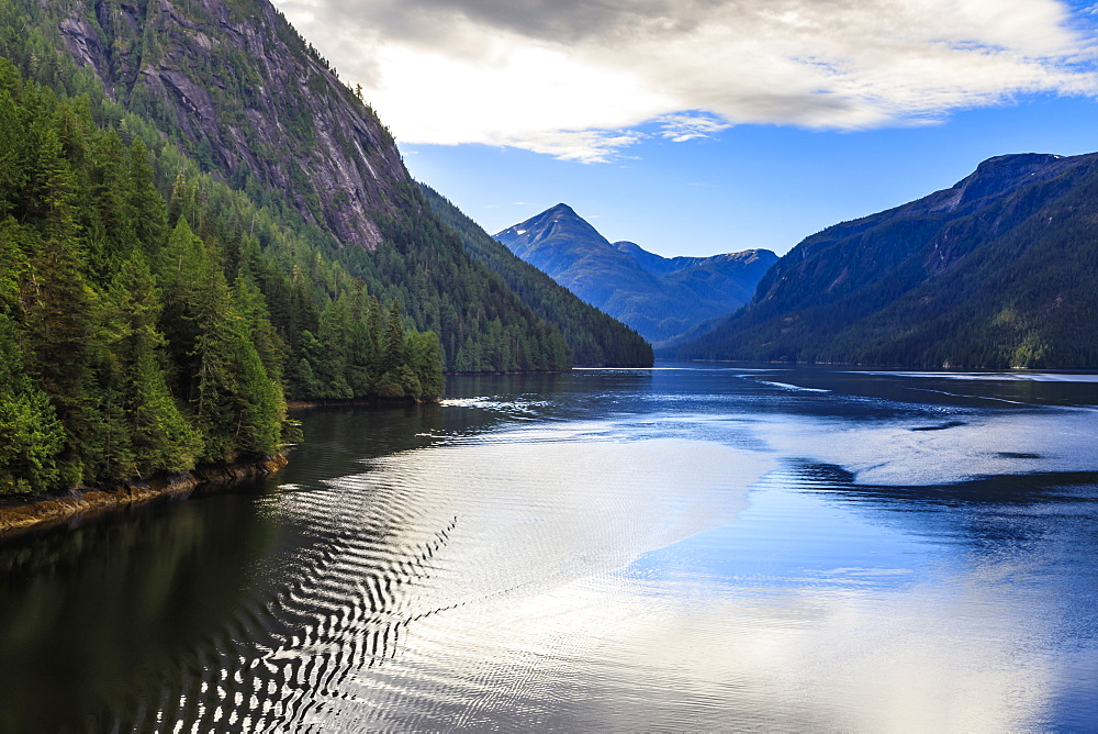Rudyerd Bay ripples, beautiful day, Misty Fjords National Monument, Tongass National Forest, Summer, Alaska, USA