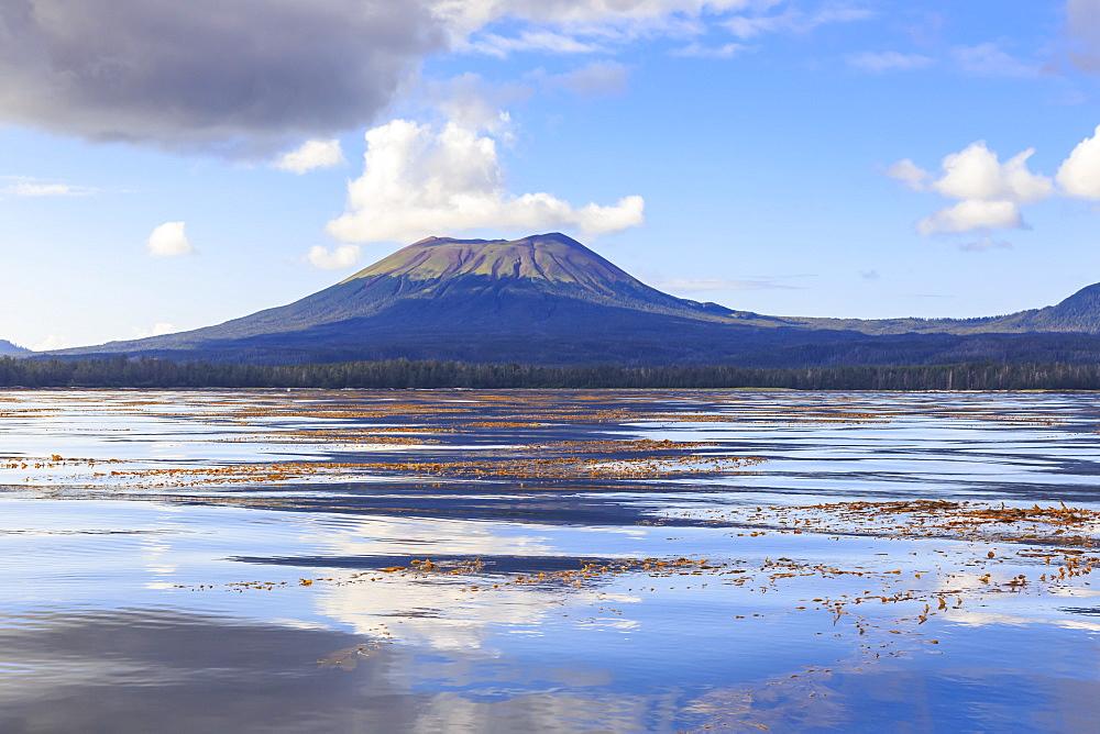 Mount Edgecumbe reflections, extinct volcano, Kruzof island, from Sitka Sound, Sitka, Northern Panhandle, Southeast Alaska, USA - 1167-1638