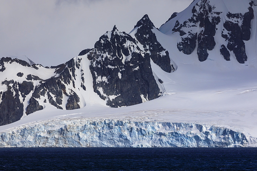 Tidewater glacier, Greenwich Island, from the sea, South Shetland Islands, Antarctica, Polar Regions