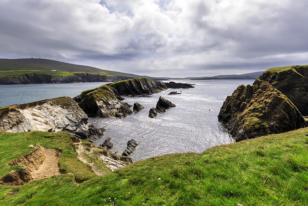 St. Ninian's Isle, spectacular cliff scenery, South West Mainland, Shetland Islands, Scotland, United Kingdom, Europe